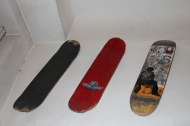 Boards on the wall no.1 A old Paulo Diaz Chocolate deck, Tim Braunch's last pro model on Santa Cruz (RIP) and the infamous Muska deck from Shortys.
