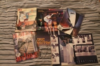 Old issues of Transworld Skateboarding Magazine including the infamous Guy Mariano and Eric Koston interview issue, and a sequence of Steve Berra not looking it.